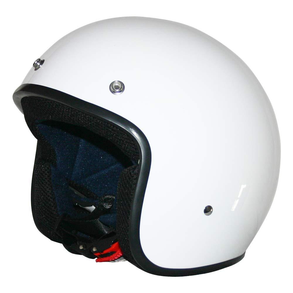 55-56cm Leopard LEO-604 ECE 22 05 Motorradhelm Motorrad Roller Offenes Jet Helm #3 Wei/ß S XS-XL Damen und Herren