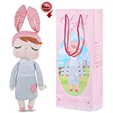 Stuffed Doll Toy Bunny Girls Baby Angela Plush Doll 14 inch Soft Cuddly Kind Rabbit Doll for Baby Kids - Birthday Gifts, Kid's Sleeping Partner, Gray