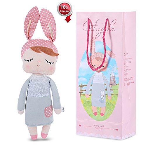 Stuffed Doll Toys Bunny Girls Baby Plush Doll 14 inch Soft Cuddly Doll for Babies Kids - Birthday Gifts, (Friends Plush Doll)