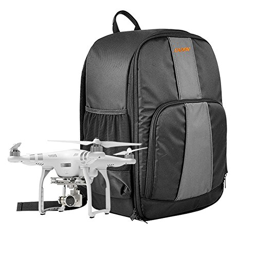 Homeself Waterproof Universal Drone Backpack Case For Your Quadcopter Drone and All Essentials,Fit all DJI Phantom Model (3 Professional, Advanced, Phantom 4), Parrot,XIRO,Similar Drone, Quadcopter (Rc Airplane Field Box)