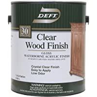 Deft 107-01 Clear Wood Finish Waterborne Acrylic Finish Gloss, 1-Gallon by Deft