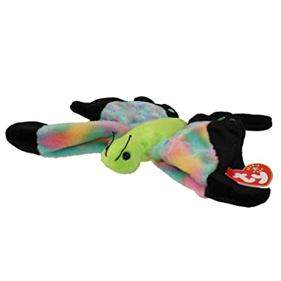 Ty Beanie Baby Float the Butterfly Multi Color Tie Dye Wings: Toys & Games