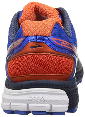 87bc9a8fd1d73 Brooks Ghost 8 Men s Running Shoes Blue Spicy Orange Dressblues ...