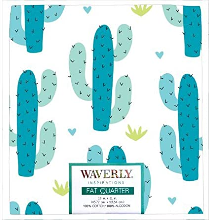 Waverly Inspirations Fat Quarters Bundle Blue Cactus