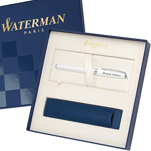 WATERMAN Füllfederhalter Sonderedition mit Etui HEMISPHERE Essential Weiß C.C. S0920930 mit persönlicher Laser-Gravur
