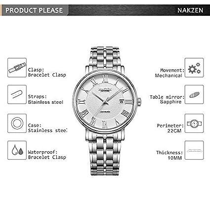 NAKZEN Movt Miyota 9015 Men Automatic Mechanical Watches with Brand Luxury  Sapphire Glass Brand Luxury Man Wristwatch