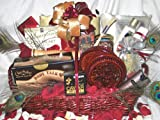 Dangerous Beauty Romantic Gift Basket with Free Personalized Greeting Card