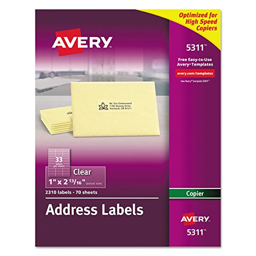 Avery Clear Address Labels for Copiers 1