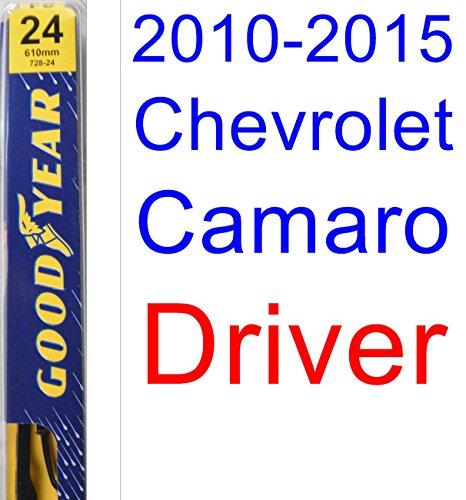 Chevrolet Camaro Wiper (2010-2015 Chevrolet Camaro Wiper Blade (Driver) (Goodyear Wiper Blades-Premium) (2011,2012,2013,2014))