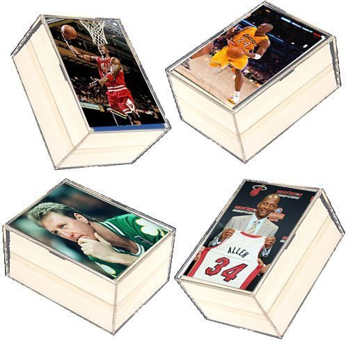 400 Card NBA Basketball Gift Set - w/ Superstars & Hall of Fame Players. Ships in 4 Plastic Boxes with a Michael Jordan Card included in every order ! ()