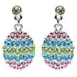 Spring Easter Jewelry Crystal Rhinestones Sparkle Dazzle Egg Dangle Earrings