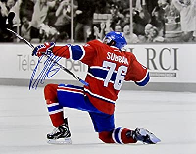 P.K. SUBBAN Hand SIGNED AUTOGRAPHED 11 x 14 PHOTO Montreal Canadiens w/COA