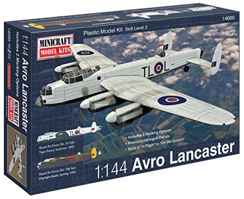 - Minicraft Avro Lancaster RAF Airplane Model Kit (1/144 Scale)