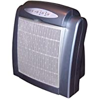 Surround Air Multi-Tech 2000 Air Purifier with HEPA/Carbon/Pre-Filter Ionizer and Germicidal UV lamp - Metallic