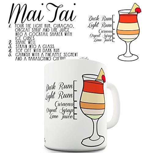 Twisted Envy Mai Tai Holiday Rum Cocktail Recipe Ceramic Funny Mug 15 OZ
