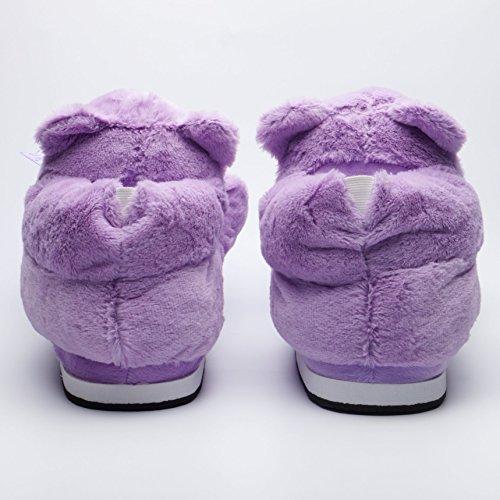 1779 Unique en Pantoufles Katara de Taille Peluche 44 EU Violet Chaussons Chaussures 36 Antidérapantes Maison Ours 7wnqqFSdxI