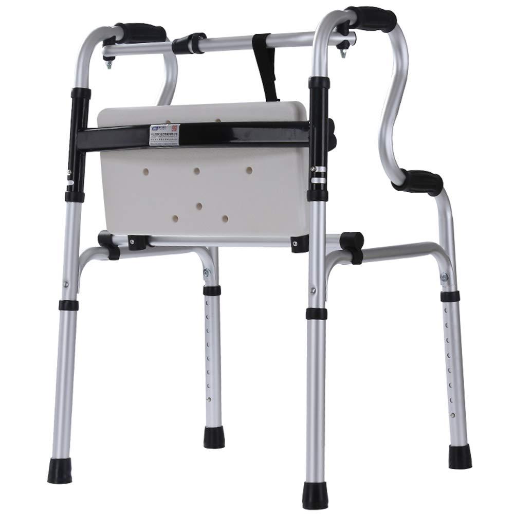 FFLSDR Andador Plegable Anciano Auxiliar De Aluminio con Placa De ...