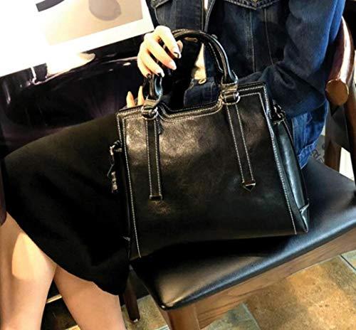 Organizer Shoulder Woman Fashion Handbags Ladies Black Flht Sale Bag Baul Leather Storage Cosmetic TwXnf8