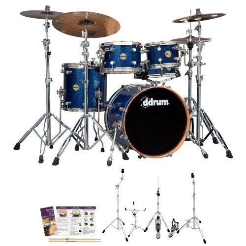 (ddrum PMF-520-BLSPK-KIT-01 Paladin Maple Blue Spark 5-Piece Drum Set)