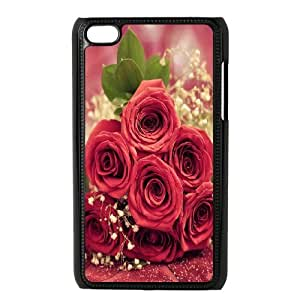 Custom Case Red Rose for Ipod Touch 4 L2P4238908
