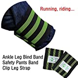 2 Pcs Bike Bicycle Reflective Ankle Leg Bind Wrist Safety Band Pants Clip Strap by Dressffe
