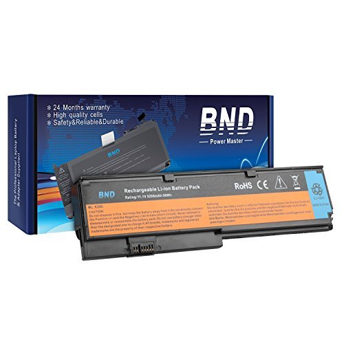 BND Laptop Battery[with Samsung Cells] for Lenovo / IBM ThinkPad X200 X200S X201 X201i Series (Only for laptop , Not for tablet) - 24 Months Warranty [6-Cell 5200mAh/58Wh] Thinkpad Tablet Series