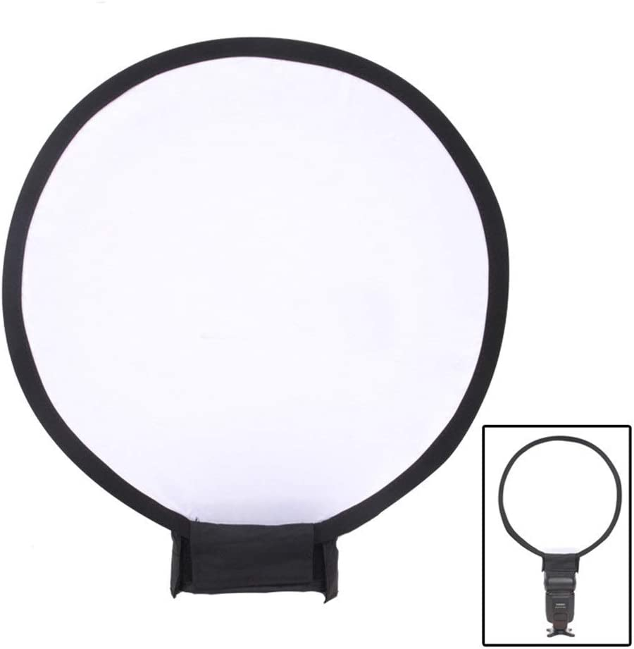 Color : As Shown, Size : 30cm Reflector 30cm//40cm Round Soft Mask Top Flash Soft Cover Softbox Soft White Diffuser Sock Ideal for Photography Activities Photographic Reflector