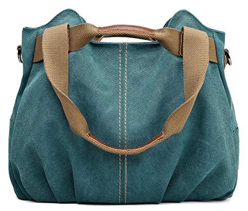 Z-joyee Women's Ladies Casual Vintage Hobo Canvas Daily Purse Top Handle Shoulder Tote Shopper Handbag Satchel Bag