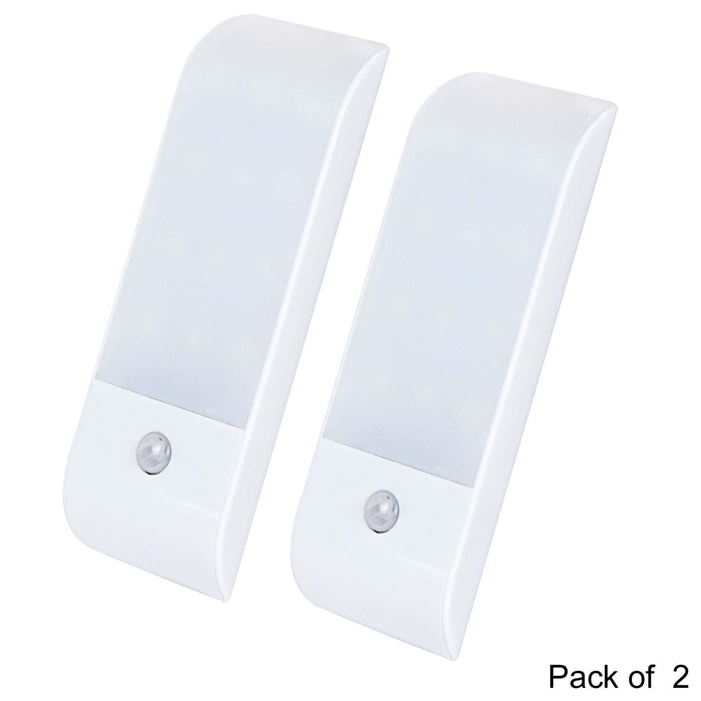fengli LEDナイトライトランプ、Rechargableモーションセンサー付きデイライト、ホワイト、スリム、cool-touch寝室、テント、バスルーム、廊下、階段、または任意の暗い部屋 FengLi-001 B074386KXS 21240  Warm White+bright White