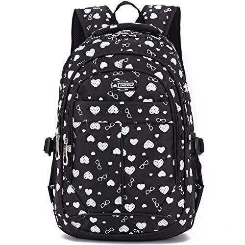 Goldwheat Girls School Backpack Bookbag Kids Schoolbag Outdoor Travel Bag for Elementary Middle School