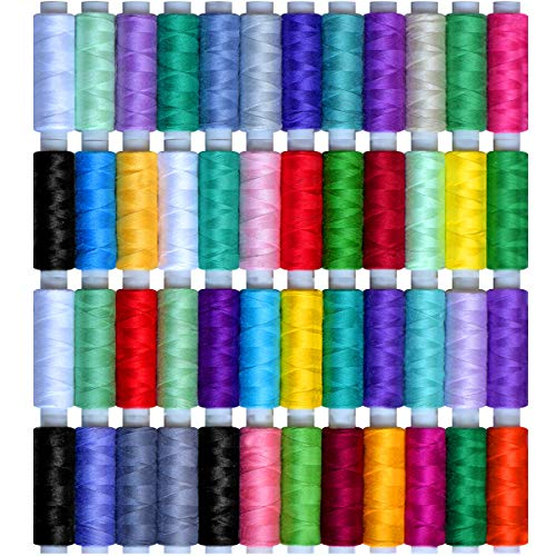 - Sewing Thread 48color (10560Y) 100% long-staple cotton sewing thread popular color. 40wt