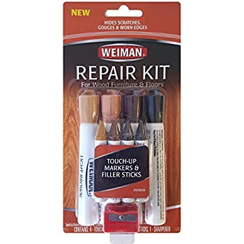 Beau Weiman Wood Repair System Kit   4 Filler Sticks 4 Touch Up Markers   Floor  And