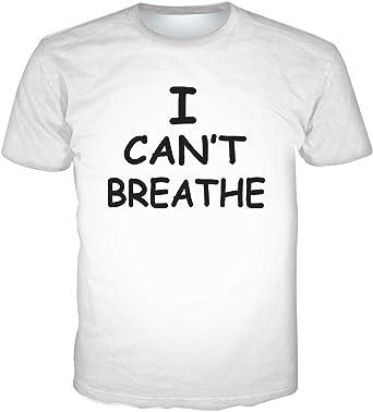 FLYCHEN Hombre Camisetas I Cant Breathe Manga Corta Negra Shirts de algodón de Moda Black Lives Matter Camisetas de Manga Corta Delgadas: Amazon.es: Ropa y accesorios