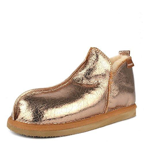 Shepherd of Sweden Annie Gold Slipper Boot Gold wYrcD