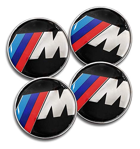 DIYcarhome (Set of 4 Wheel Center Caps Hub Caps 68mm / Standard Fit for All Models/M Serie/Center Caps for BMW