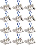 Wildlife Tree Wolf / Husky Plush 3.5 Inch Stuffed Animal Backpack Clip Toy Keychain Wildlife Hanger Party Favor Pack of 12