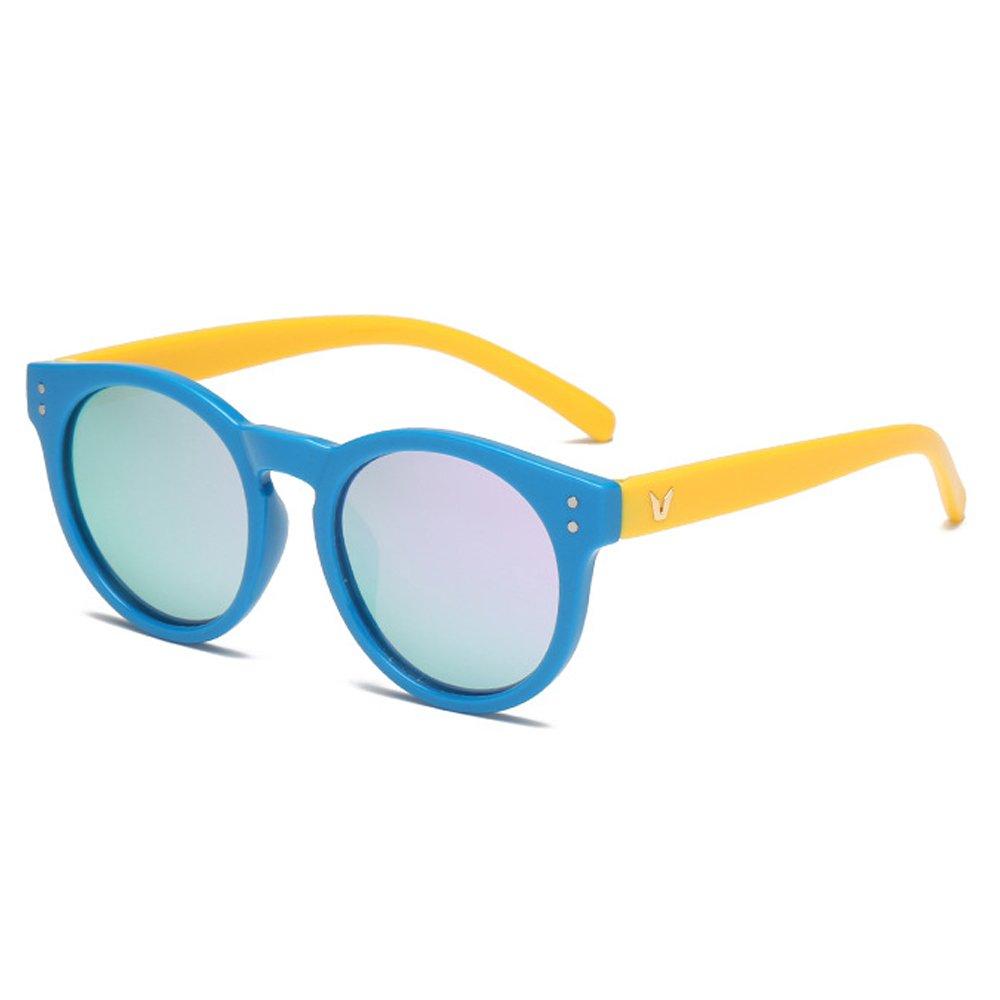 Fantia Children's Sunglasses Soft Silicone HD Polarized Sunglasses Age 6-15 (B)