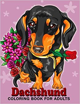 Amazon.com: Dachshund coloring book for Adults: Dog and ...