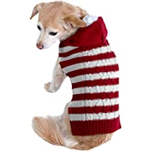 Cozy Knit Ugly Sweater Furry Stripe Pet Dog Cat Christmas Holiday Clothes Costume Apparel Small