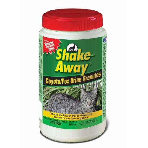 Shake Away 5006458 Coyote/Fox Urine Granules - Repels Domestic Cats, 5 lb
