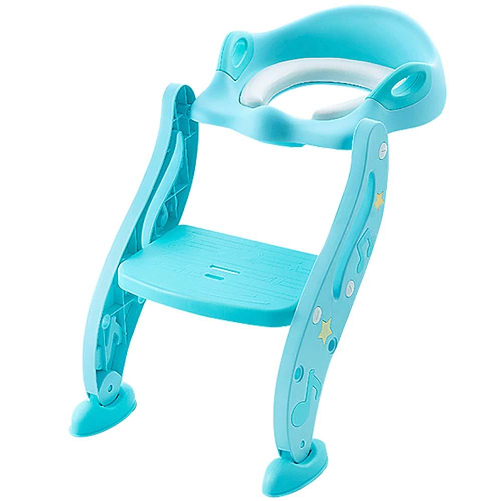 子供用トイレトレーニングシート、男の子と女の子用の便座、頑丈な滑り止めステップスツール、快適なハンドルとしぶき警備員(07歳)   B07QPXKPVT