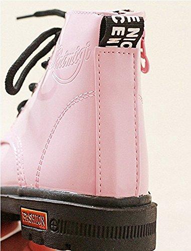 Unisex Baby Martin Stiefel Behalten Warm Beiläufig Schuhe Rosa