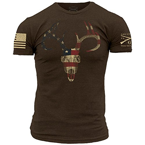 Grunt Style Outdoors - American Trophy Men's T-Shirt, Color Chocolate Brown, Size - Styles Men For