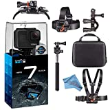 GoPro Hero7 Hero 7 Waterproof Digital Action Camera Body Bundle (Black)