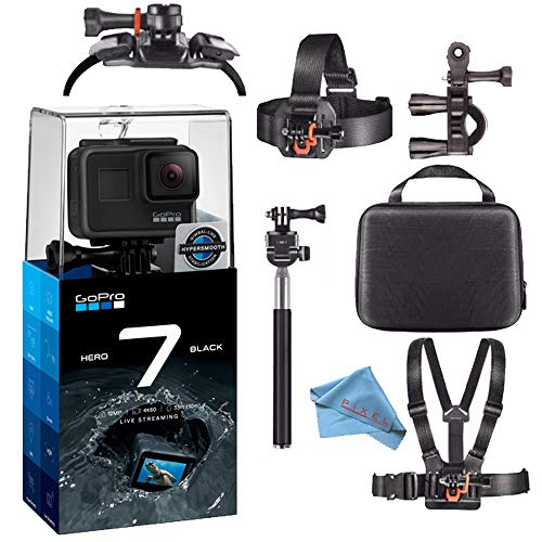 GoPro Hero7 Hero 7 Waterproof Digital Action Camera Body Bundle (Black)]()