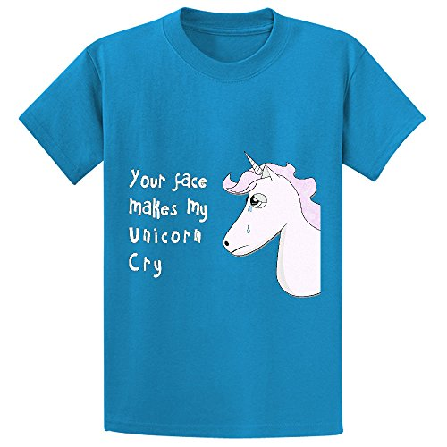 likeu-your-face-makes-my-unicorn-cry-youth-cotton-crew-neck-t-shirts-blue