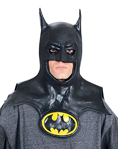 Rubie's Batman Movie Deluxe Overhead Mask with Cowl, Black, One Size -