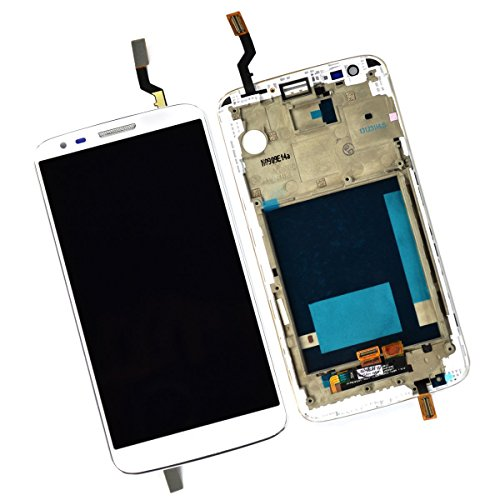 Skiliwah LCD Touch Screen Digitizer Assembly For LG Optimus G2 VS980 Verizon (White w/ Frame) (Touch Verizon Screen)