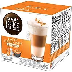 NESCAFÉ Dolce Gusto Coffee Capsules – Caramel Latte Macchiato – 48 Single Serve Pods, (Makes 24 Specialty Cups) 48 Count