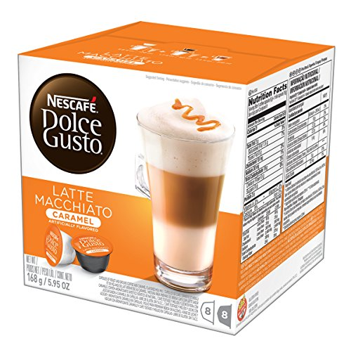 (NESCAFÉ Dolce Gusto Coffee Capsules  Caramel Latte Macchiato  48 Single Serve Pods, (Makes 24 Specialty Cups) 48 Count)